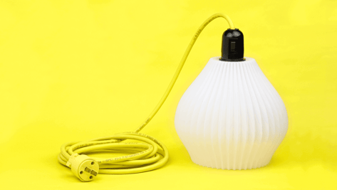 Featured image of 3D Printed Tabletop Lamp Shines Bright After Crushing Kickstarter Goal