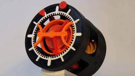 Featured image of 3D Printed Clock with Tourbillon Wins Pinshape's Designer of the Month
