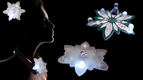 Featured image of Anouk Wipprecht's High Tech Edelweiss is a DIY Attention Grabber