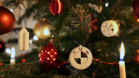 Featured image of Drive Into the Holiday Season With 3D Printable BMW Christmas Ornaments