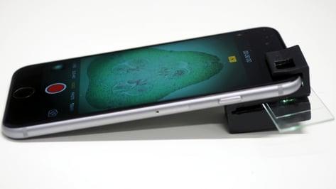 Image de l'en-tête de Un microscope imprimé en 3D et open sourcepour votre smartphone !