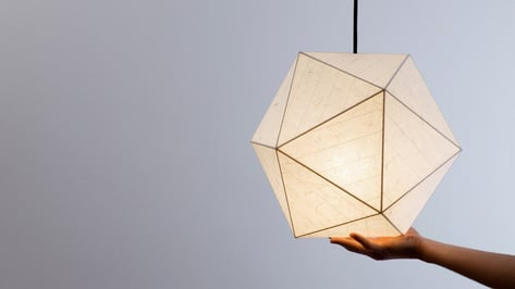 """Featured image of Werteloberfell 3D Prints onto Japanese Silk Paper to Create """"Panel Light"""" Structures"""
