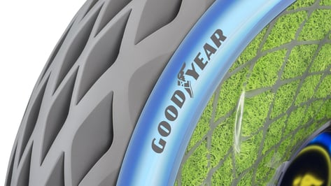 Featured image of Goodyear Creates Oxygene 3D Printed Concept Tire to Improve Air Quality