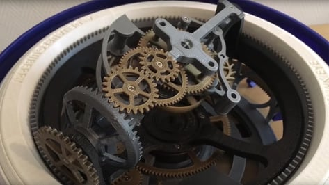 Featured image of Hawk Eye is a 3D Printed Triple-Axis Tourbillon