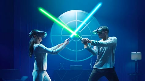 """Featured image of """"Star Wars: Jedi Challenges"""" AR Lightsaber Duels are now Two-Player"""