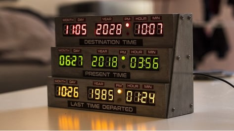 Featured image of [Project] Turn Back Time with a 3D Printed Delorean Clock From 'Back to the Future'