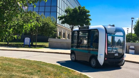 Featured image of Autonomous 3D Printed Olli Bus Undergoing Testing at University of Buffalo