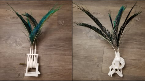 Featured image of [Project] All3DP Takes on a 3D Printed Feather Automaton Mechanism