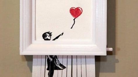 """Image de l'en-tête de Projet 3D du week-end : jouez les Banksy avec la réplique autodestructrice de """"Love is in the Bin"""""""