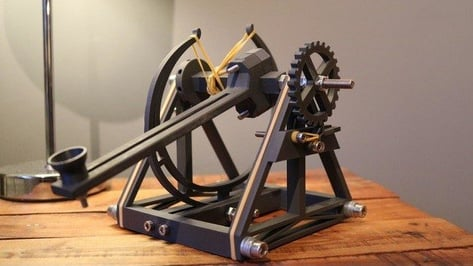 Featured image of [Project] 3D Printed Mini Catapult Inspired by Leonardo da Vinci