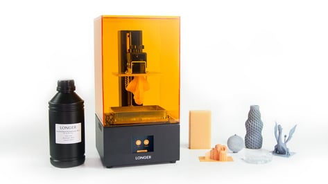 Featured image of Longer Launches Orange 30 Affordable Resin 3D Printer on Kickstarter