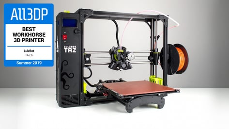 Featured image of Lulzbot TAZ 6 Review: Great Workhorse 3D Printer