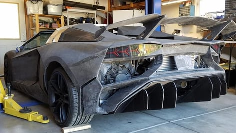 Featured image of Father and Son Building a 3D Printed Lamborghini