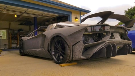 Featured image of Father and Son Take 3D Printed Lamborghini Out for a Test Ride