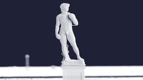 Featured image of Scientists 3D Print Microscopic Copper Version of David Statue
