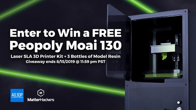 Featured image of Win a Peopoly Moai 130 + 3 Bottles of Resin!