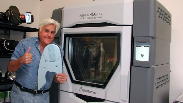 Featured image of Stratasys Partners with Comedian Jay Leno for On-Demand Manufacturing Services