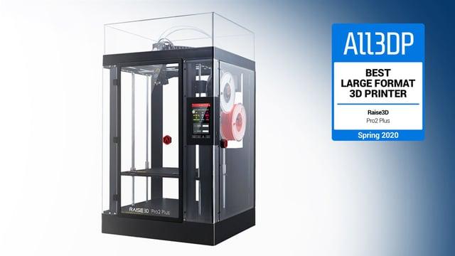 Image de l'en-tête de Raise3D Pro2 Plus : meilleure imprimante 3D grand format