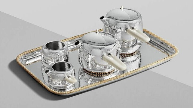 Featured image of Georg Jenson Silver Tea Service Designed by Marc Newson