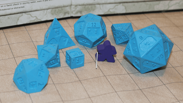 Featured image of 64oz Games to Make 3D Printed Braille Dice for RPGs