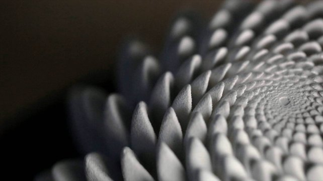 Featured image of Blooms: 3D Printed Sculptures that Animate Under Strobe Light