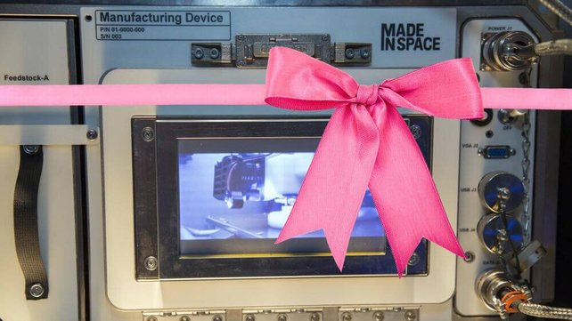 Featured image of Pink Ribbon will be 3D Printed in Space for Breast Cancer Awareness Month