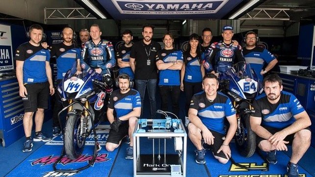 Featured image of Yamaha's Bike Racing Team Uses Mark One 3D Printers Inside The Pit Box