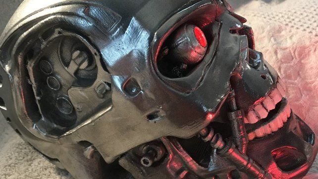 Featured image of 3D Print Your Own Terminator Skull Complete with Moving Eyes and Jaw