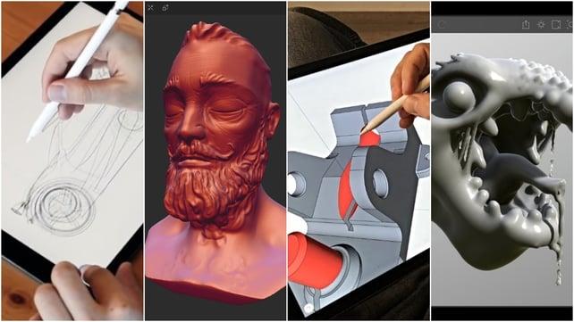 Imagem de destaque Os melhores apps de modelagem 3D (iPad & Android)