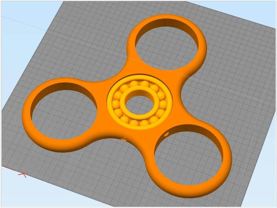 Fidget Spinner 3-Arm Solid Color Carbon
