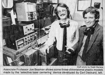 Carl Deckard alongside his selective laser