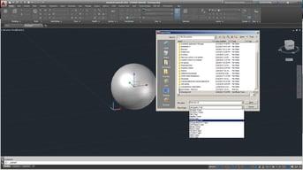 Designing in AutoCAD.