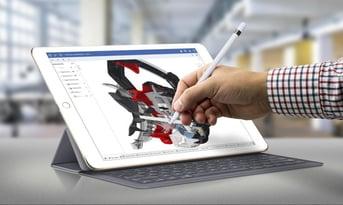 CAD on an iPad Pro.