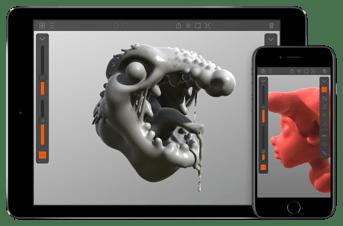 The Putty3D app on iOS.