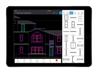 The AutoCAD app in action.