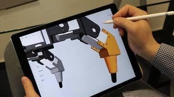 Shapr3D on the iPad Pro.
