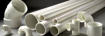 PVC comes in two common geometries: cylindrical and sheet.