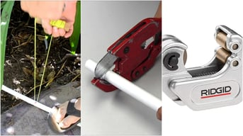 A string, ratchet, and tubing cutter.