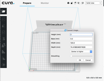 The Cura workspace familiar to many a maker.
