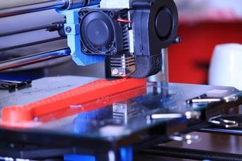 ABS being 3D printed.