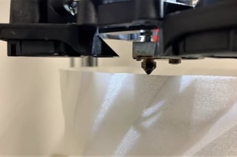 From start to finish, the nozzle doesn't stop extruding.