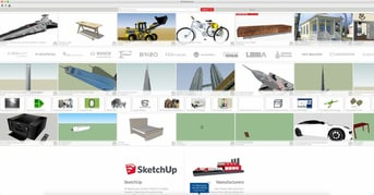 SketchUp's 3D Warehouse has quite a number of models optimized for the program.