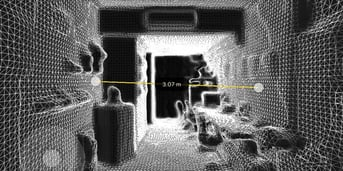 3D scanning a room is a great way to get its exact measurements.