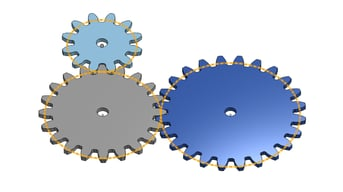 Pitch diameters of our gears.