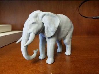 A simple elephant in grey.