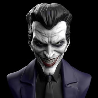 This Joker model is more toned-down compared to newer renditions.