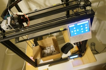 Klipper being set up on a printer.