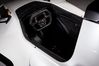 Driver-customized grips in the BAC Mono R.