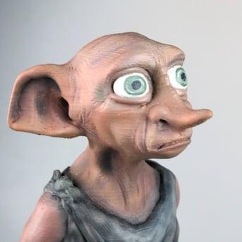 A model of Dobby, the house elf.
