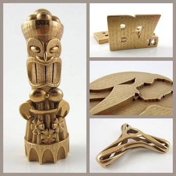 i.Materialise offers 3D printed bronze objects using the lost-wax method, as shown here